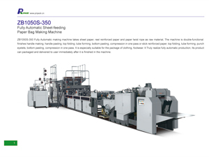 ZB1050S-350 Fully Automatic Sheet-feeding Paper Bag Making Machine
